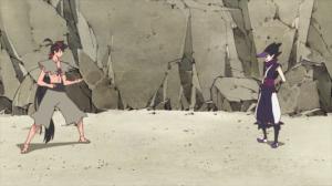 A ninja in conversation.
